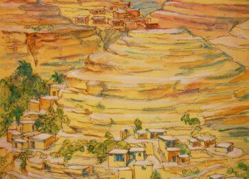 02-Алжирская Сахара (акварель)